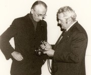 Ferraro introducing Commander Cousteau to the Inject regulator