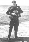 Luigi Ferraro wearing  light diving equipment