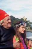 LUIGI FERRARO and his grandchild Emanuela before diving together